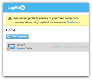 Logmein not free anymore
