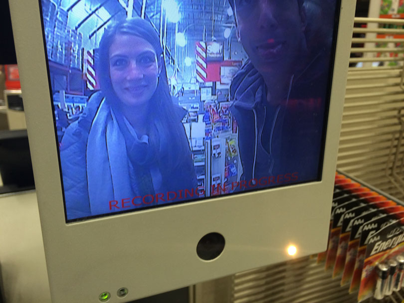 Lenny Gale and Shalva Geffen on camera at home depot.